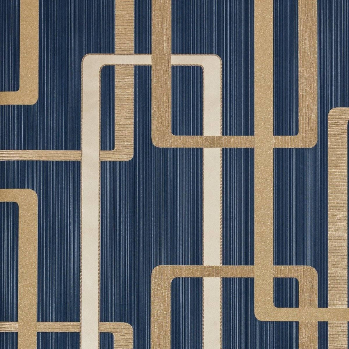 Papel de parede azul quarto masculino homem jovem moderno - Papel de pared moderno ...