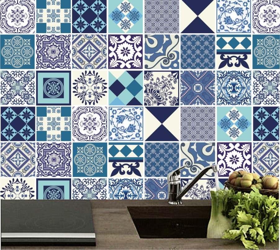 Papel de parede azulejo para cozinha auto adesivo vin lico for Revestimientos vinilicos para azulejos