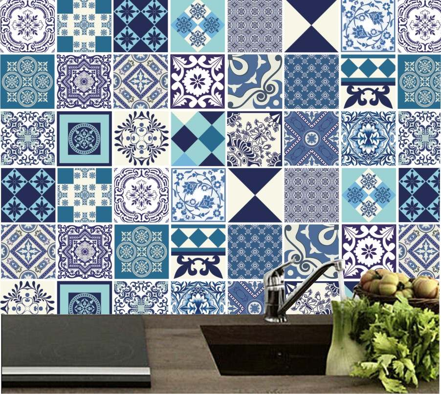 Papel de parede azulejo para cozinha auto adesivo vin lico - Papel vinilico para paredes ...