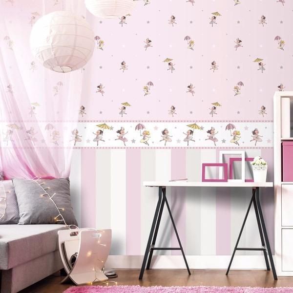 Papel de parede bailarina rosa r 250 00 em mercado livre - Papel vinilico para paredes ...