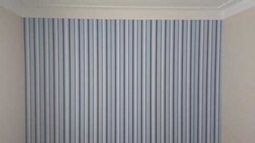 papel de parede bambinos bobinex listrado azul 3307 + cola