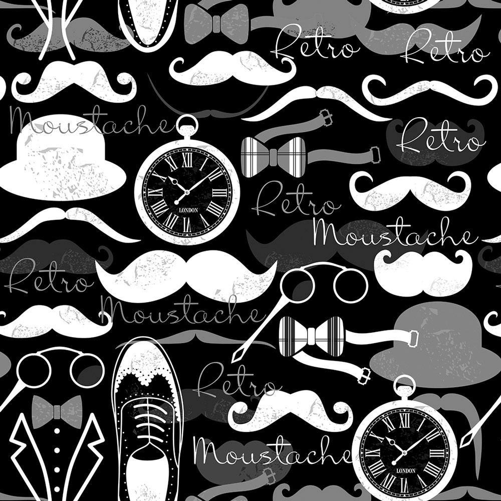 Armario Ikea Pax Esquina ~ Papel De Parede Barbearia Preto E Branco 310 X 58cm R$ 46,90 em Mercado Livre