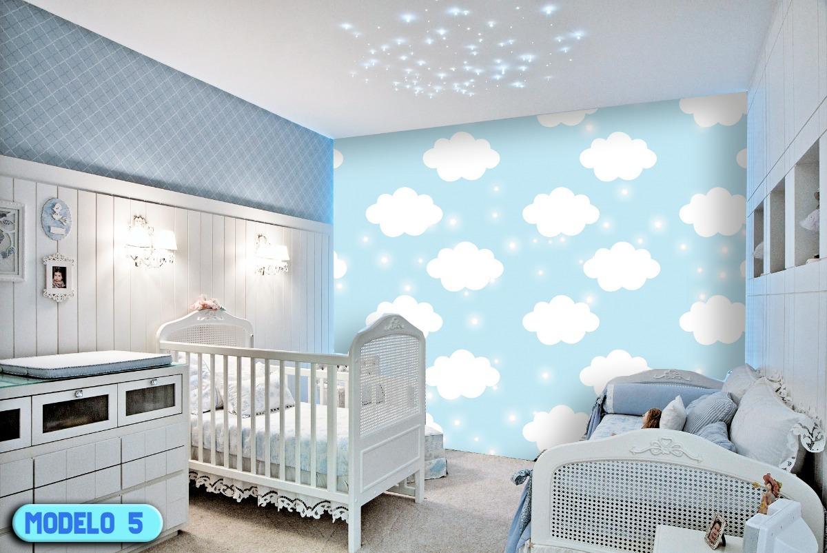 Papel de parede bebe menino quarto 10 modelos r 299 90 em mercado livre - Papel de pared bebe ...