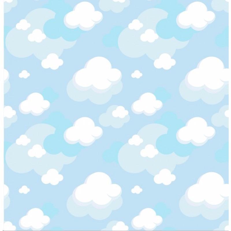 Papel de parede bebe nuvens vin lico adesivo quarto - Papel infantil para paredes ...