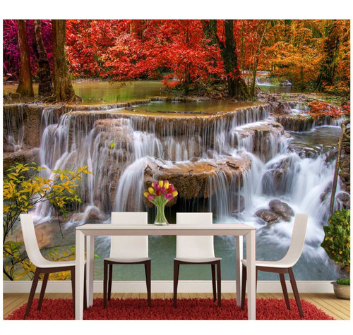 Papel De Parede Cachoeira Paisagens Sala Quarto Natureza M68  R$ 299,00 em M