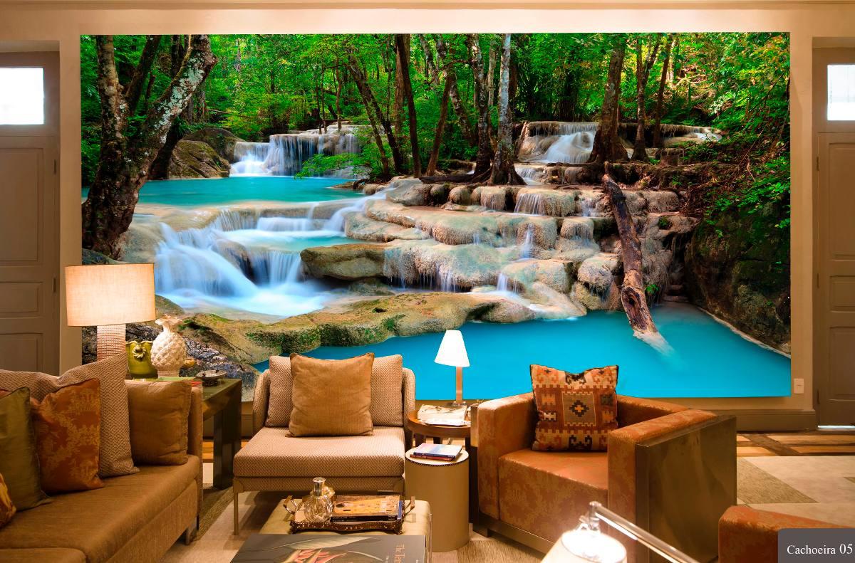 Papel de parede cachoeiras alta defini o venda por m - Papel adhesivo para paredes ...