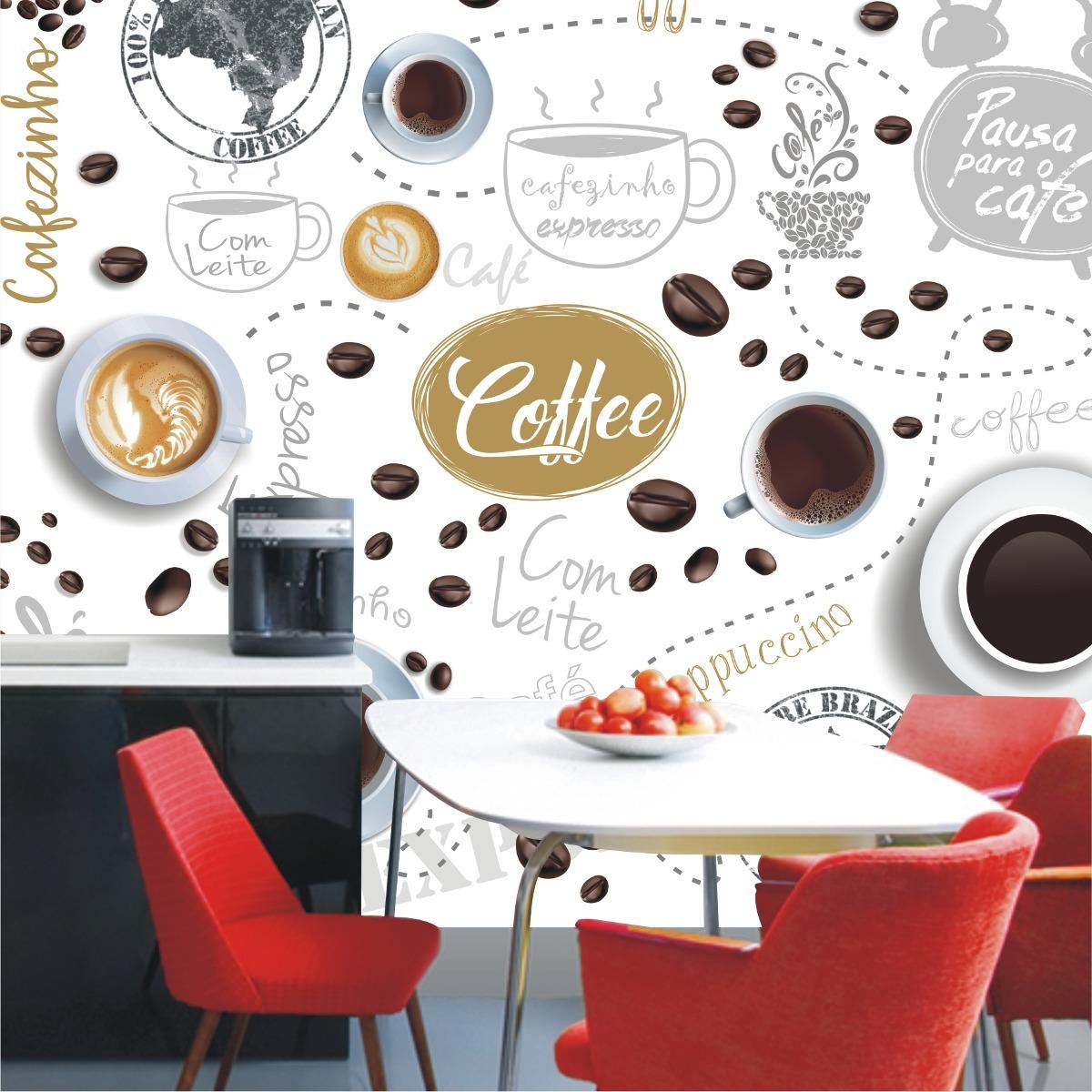49b359345 papel de parede café cozinha lavável gg cafe cafeteria m103. Carregando  zoom.