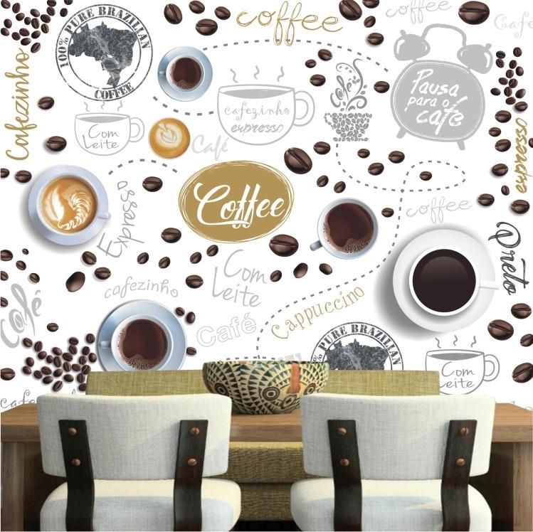 f5c168161 Papel De Parede Café Cozinha Lavável Gg Cafe Cafeteria M103 - R  299 ...