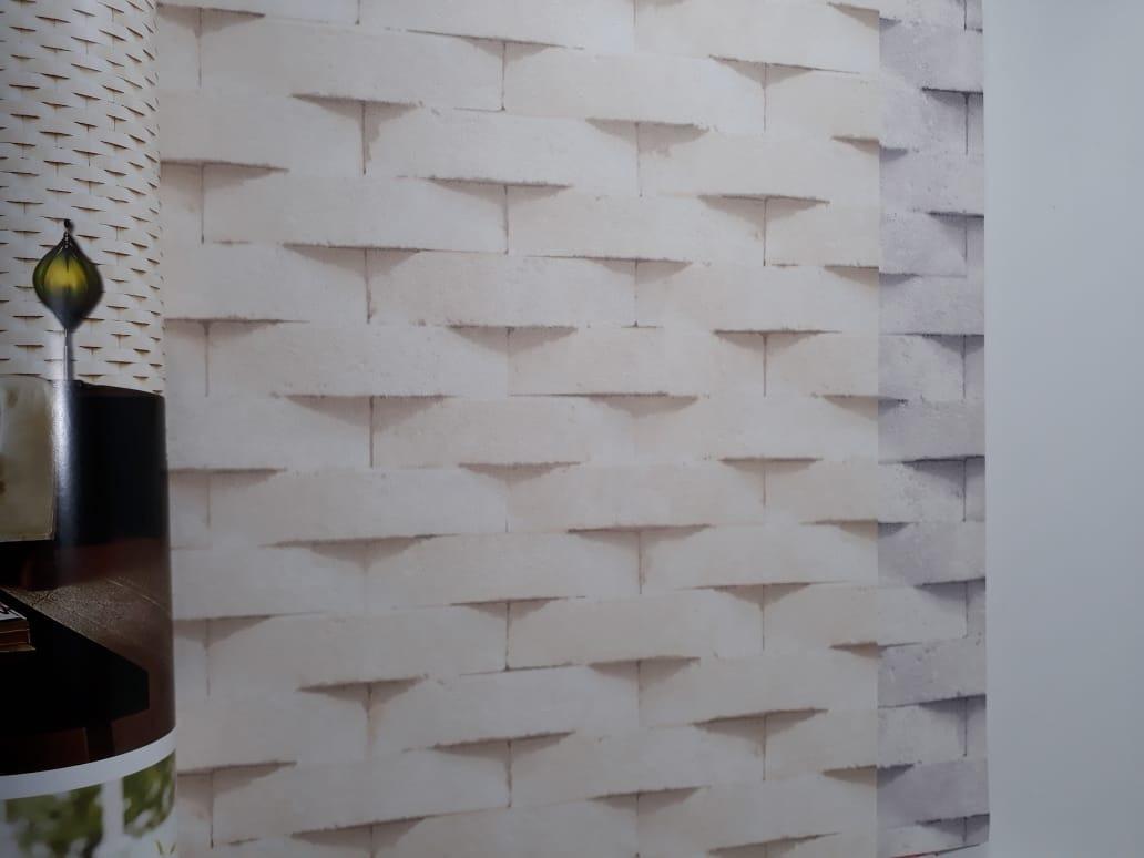 bf813dcfb Papel De Parede Canjiquinha Branca Em 3d E Relevo Kantai - R  229