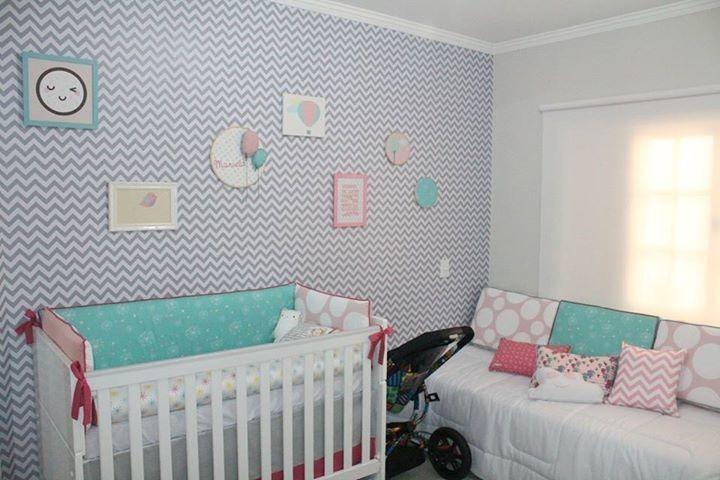 Papel de parede chevron quarto bebe menino menina neutro - Papel pared bebe ...