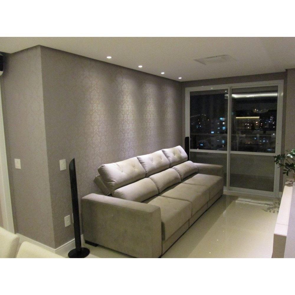 Papel de parede cinza arabesco prata vinilico texturizado - Vinilico para paredes ...