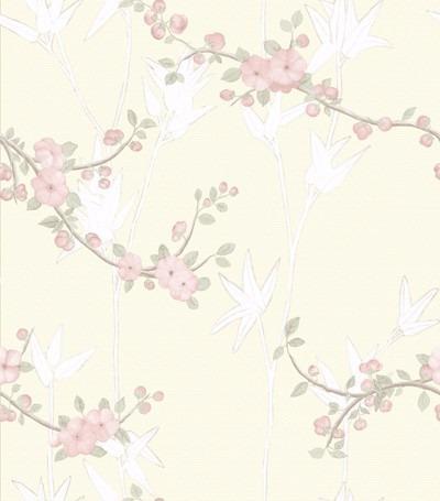 Papel de parede cole o floral diplomata vin lico cola - Papel vinilico para paredes ...