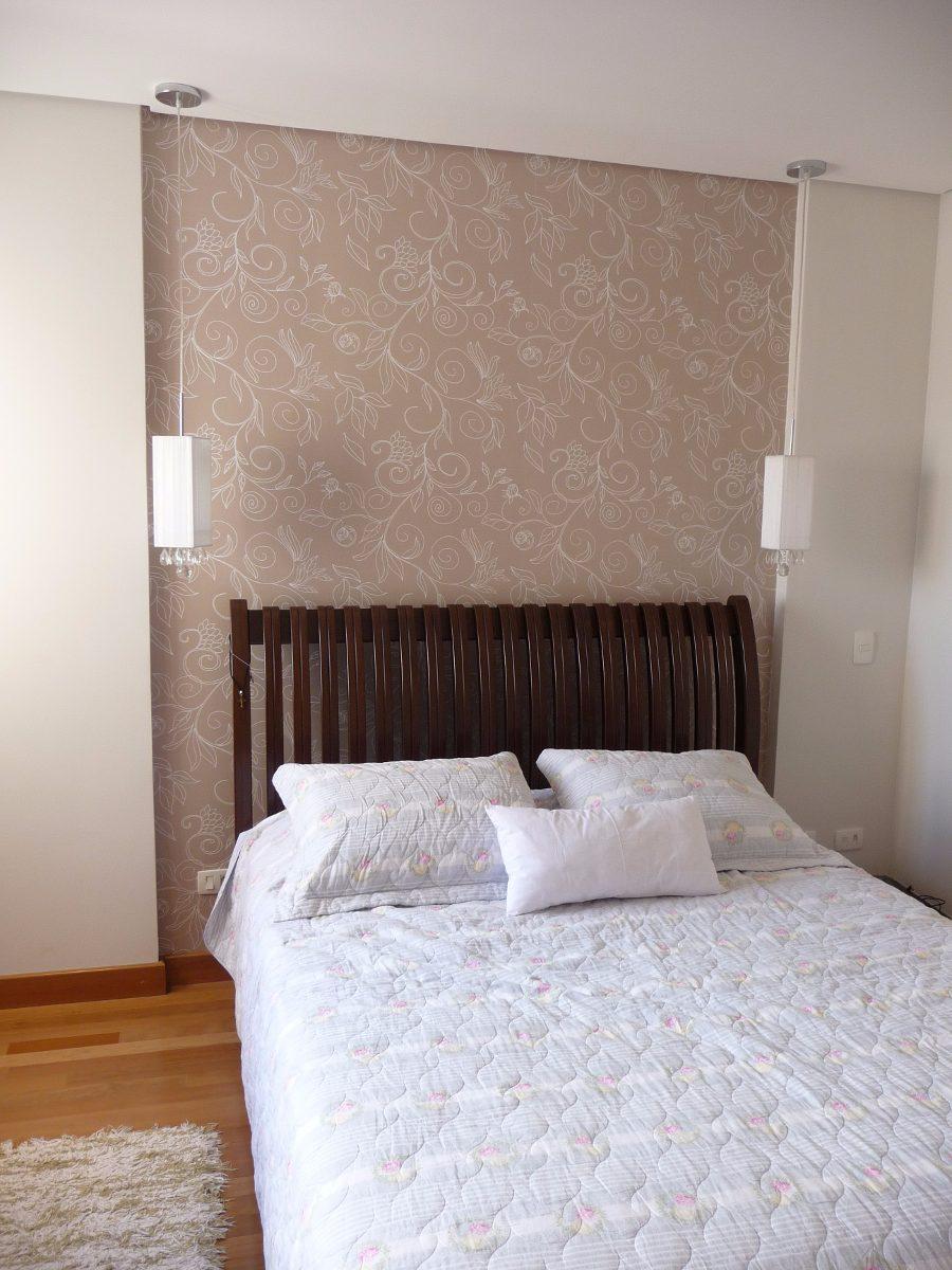 Papel de parede contempor neo lav vel cabeceira de cama - Papel para revestir paredes ...
