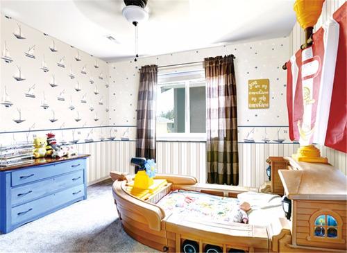 papel de parede cordenados infantil azul criança