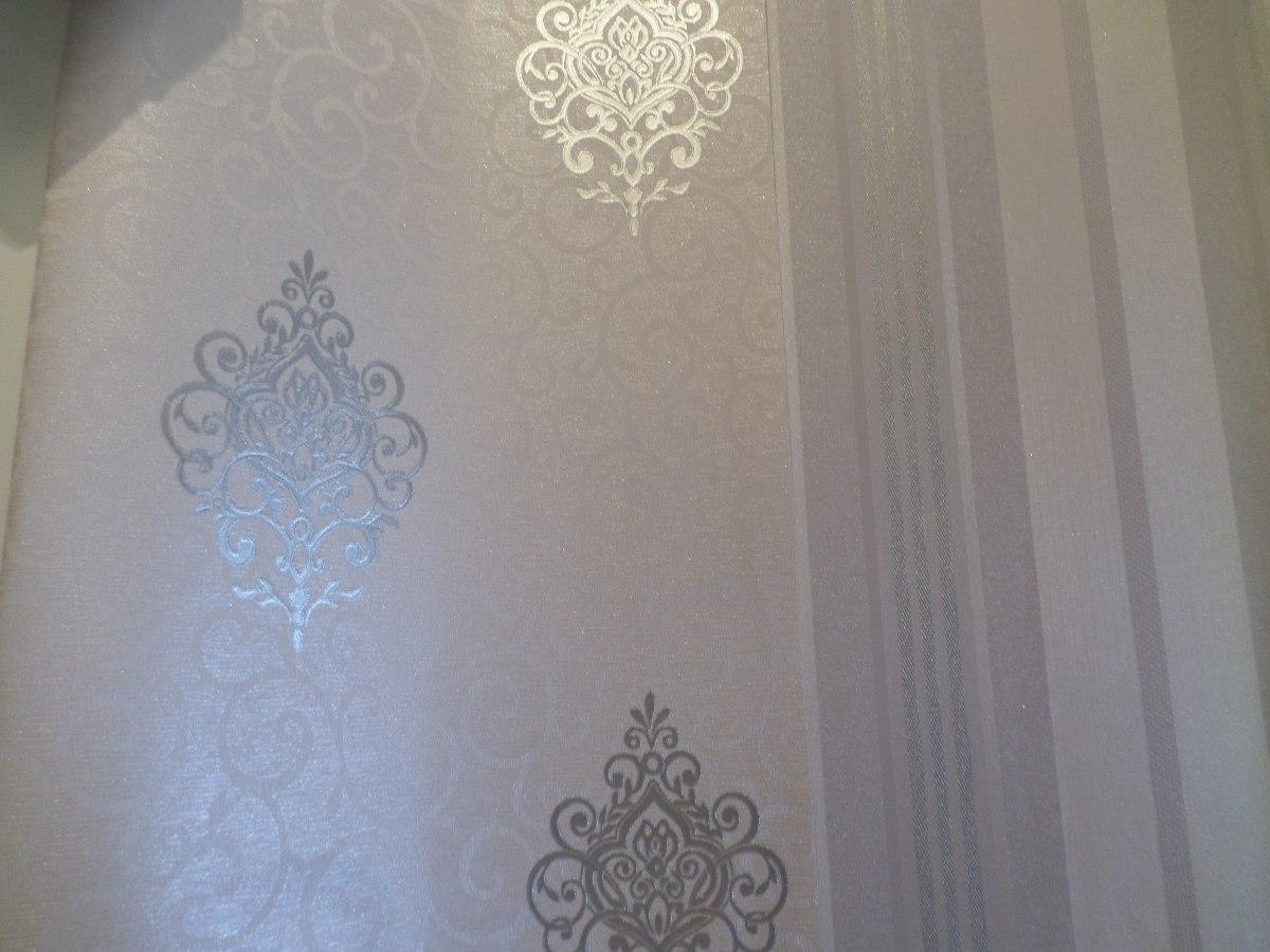Papel de parede damask lavavel vinilico 10105 r 98 00 - Papel vinilico para paredes ...
