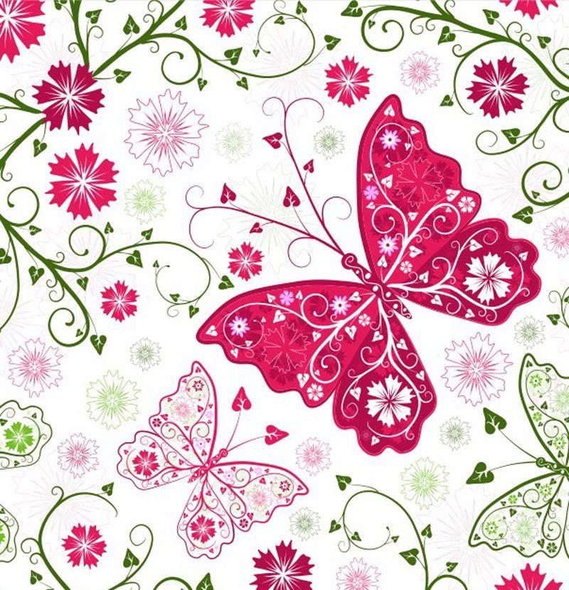 Papel de parede doce infancia borboletas vin lico r 43 - Papel vinilico para paredes ...