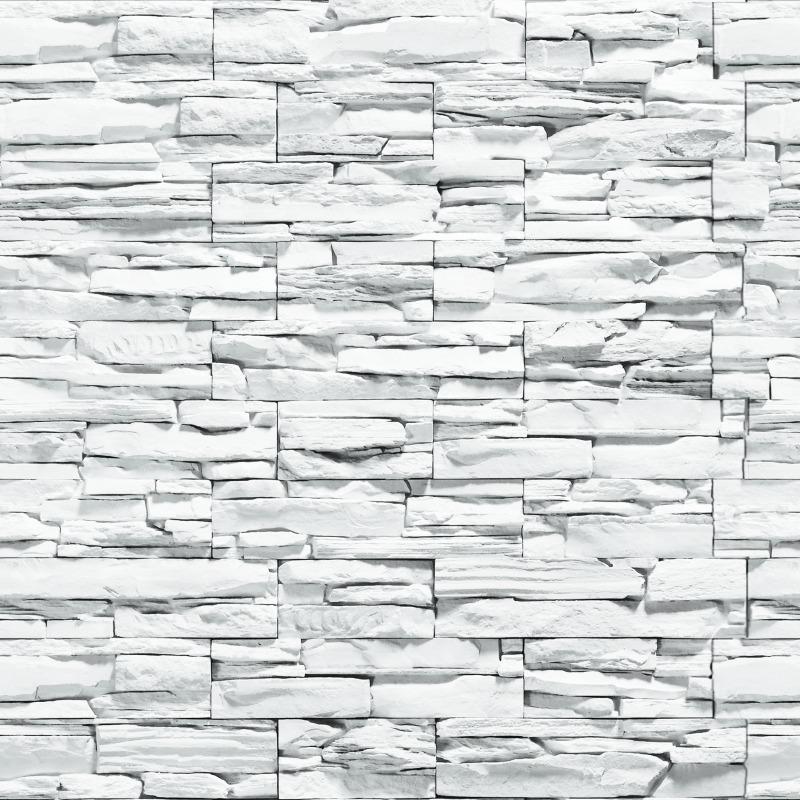 6b3bfdc49 papel de parede em 3d pedras canjiquinha branca vinílico 10m. Carregando  zoom.