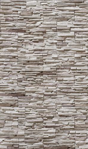 papel de parede em 3d pedras canjiquinha em filetes mod.40