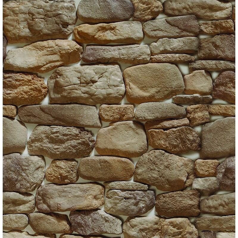 e608b0c18 papel de parede em 3d pedras rustica bege adesivo - 10 metro. Carregando  zoom.
