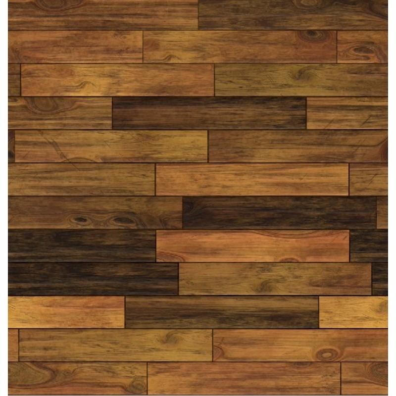 Papel de parede estilo madeira tacos pel cula amadeirada for Mosaico adesivo 3d