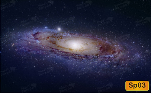 papel de parede estrelas espaço galáxia céu - fosco luxo m²