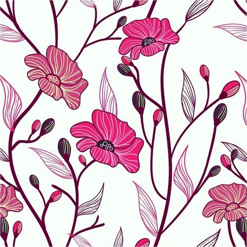 Loja Artesanato Zona Sul ~ Papel De Parede Floral Contact Adesivo Lavável Vinílico R$ 39,90 em Mercado Livre