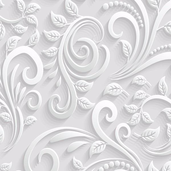 Papel de parede floral efeito 3d r 44 90 em mercado livre for Papel pared barato