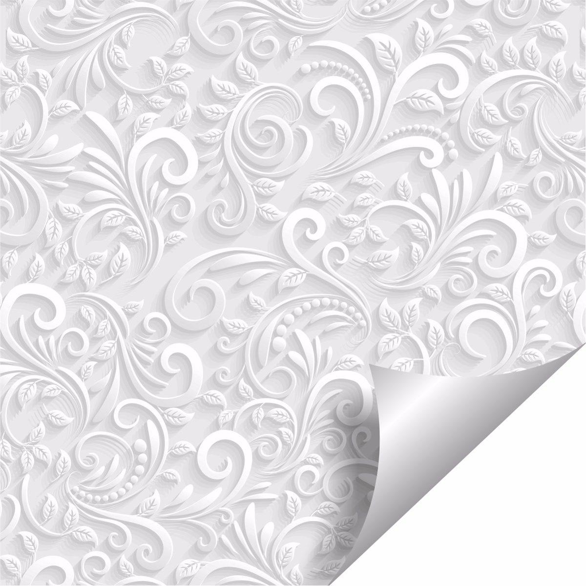Papel de parede floral efeito 3d r 44 90 em mercado livre - Papel autoadhesivo para paredes ...
