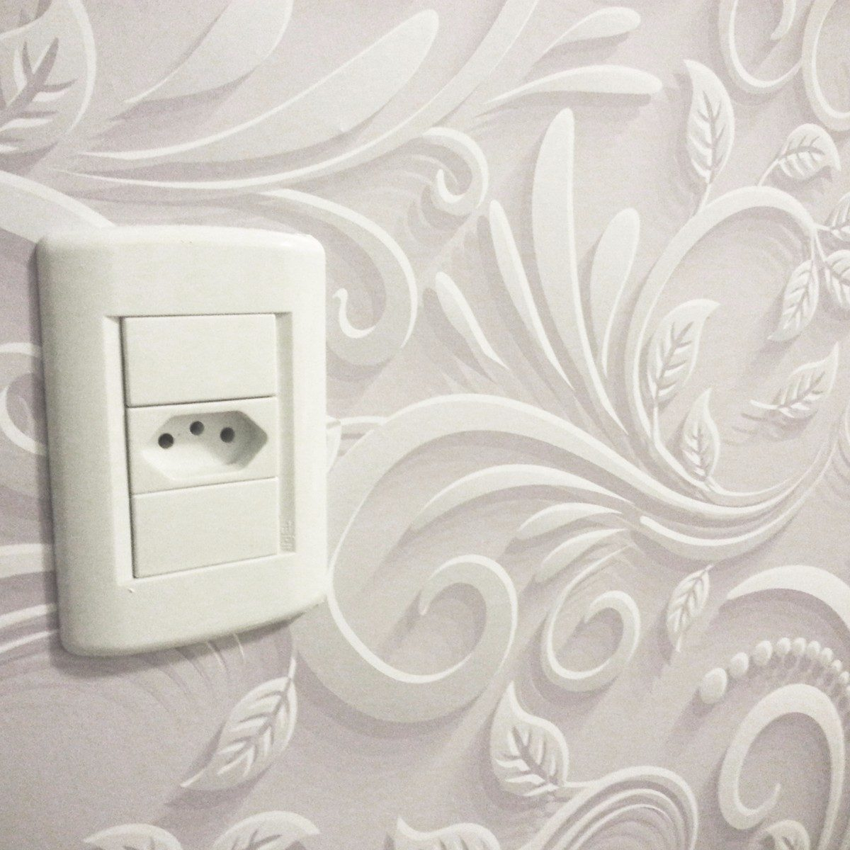 Papel de parede floral efeito 3d r 44 90 em mercado livre - Paredes de papel ...