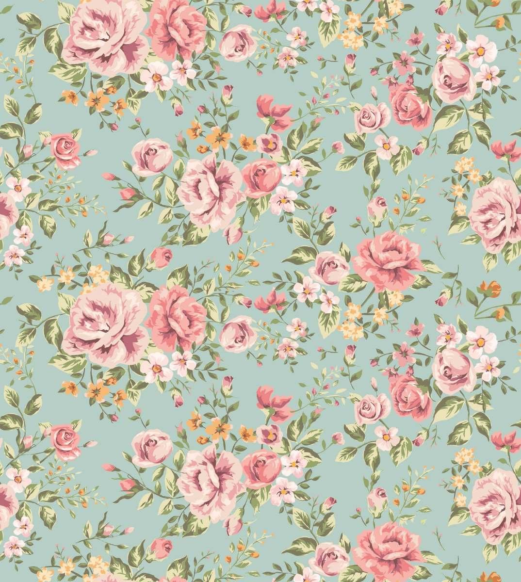 Papel De Parede Floral Para Quarto Ou Sala Contact R 45 00 Em  -> Papel De Parede Sala Floral