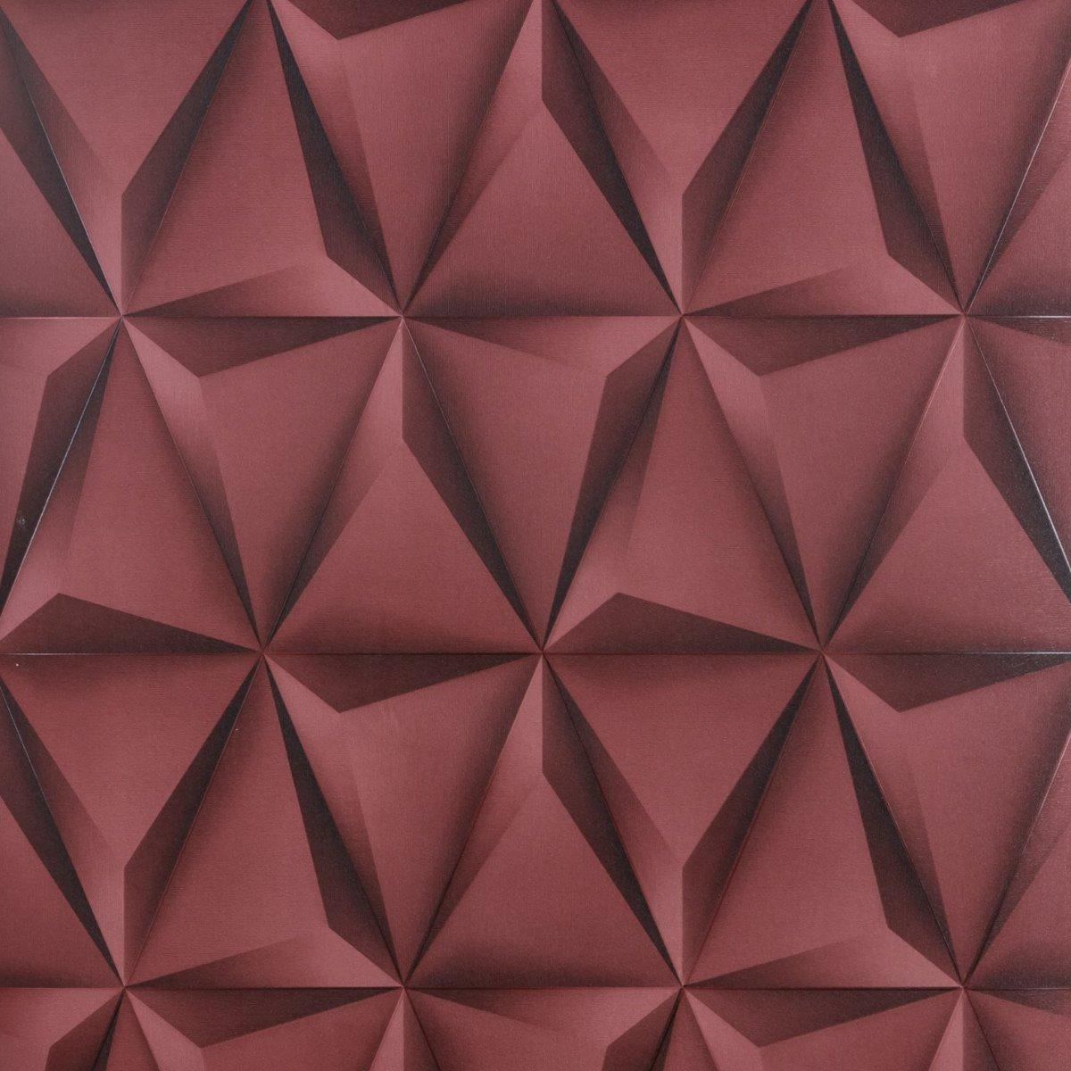 Papel de parede geom trico 3d banheiro lavabo suite - Papel autoadhesivo para paredes ...