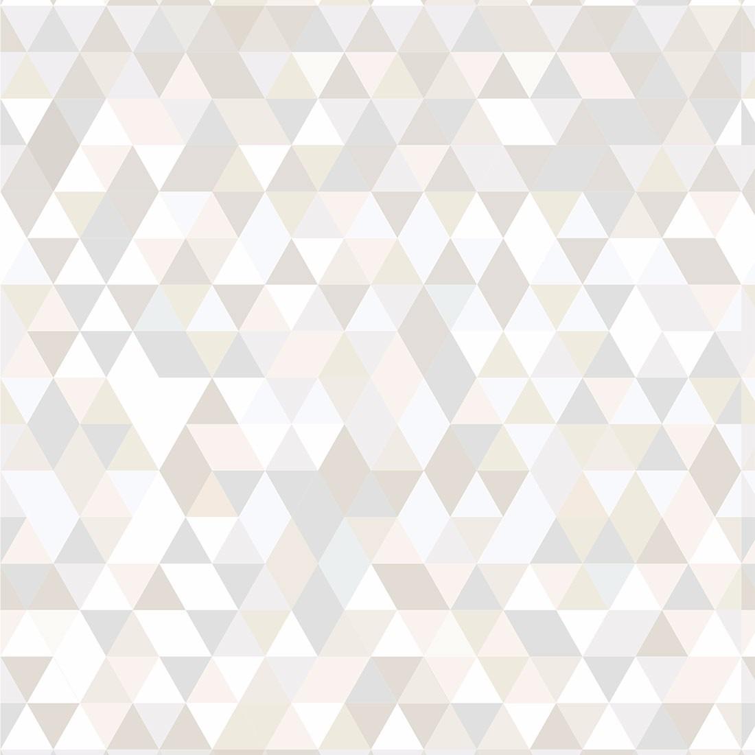 Papel de parede geom trico triangulos tons past is adesivo - Papel plastificado para paredes ...