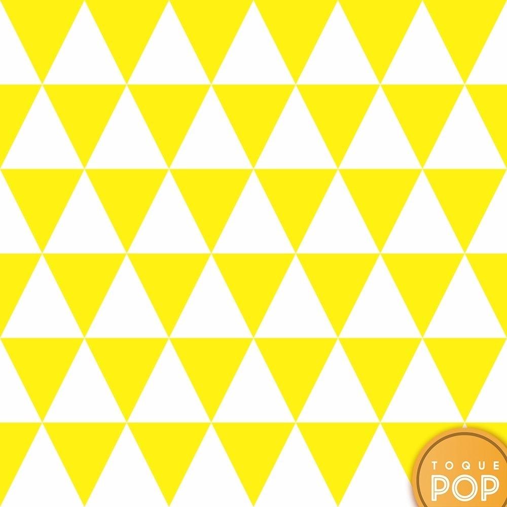 c6d991f37 papel de parede geométrico triângulo amarelo branco 10m. Carregando zoom.