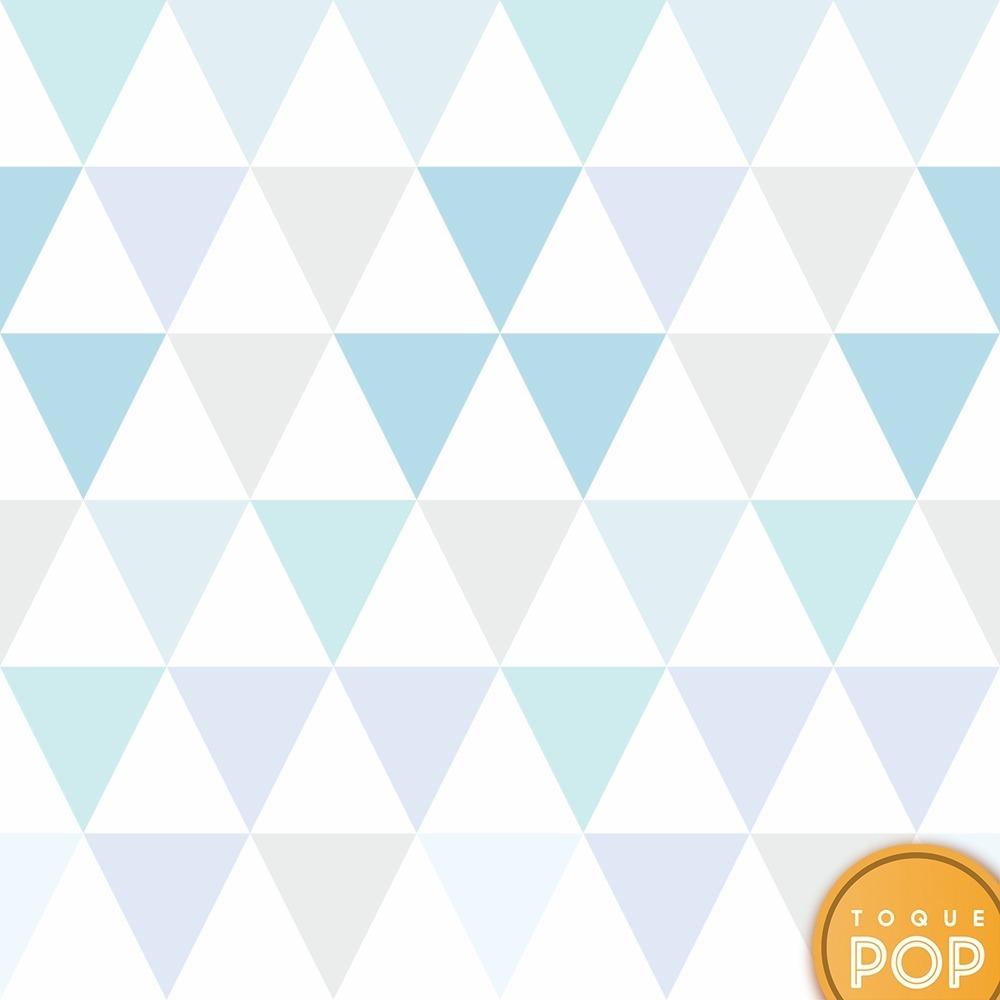 8ef0ee200 papel de parede geométrico triângulo azul tons cinza 10mts. Carregando zoom.
