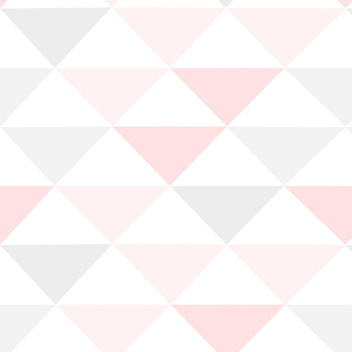 Papel de parede geom trico vinil menina triangulo rosa 3 - Cenefas de papel para paredes ...