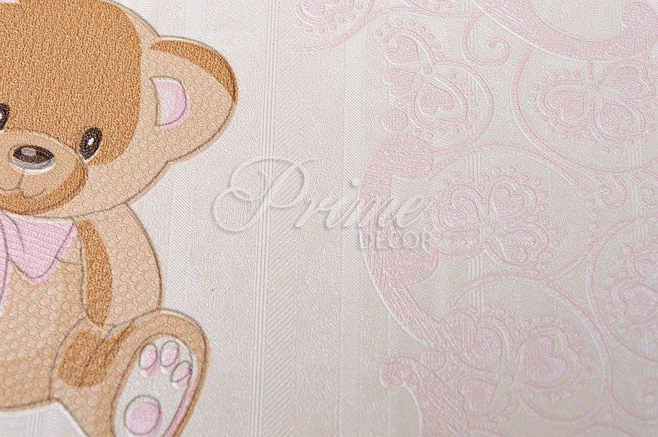 Papel de parede importado infantil e beb ursinhos menina for Papel para empapelar infantil