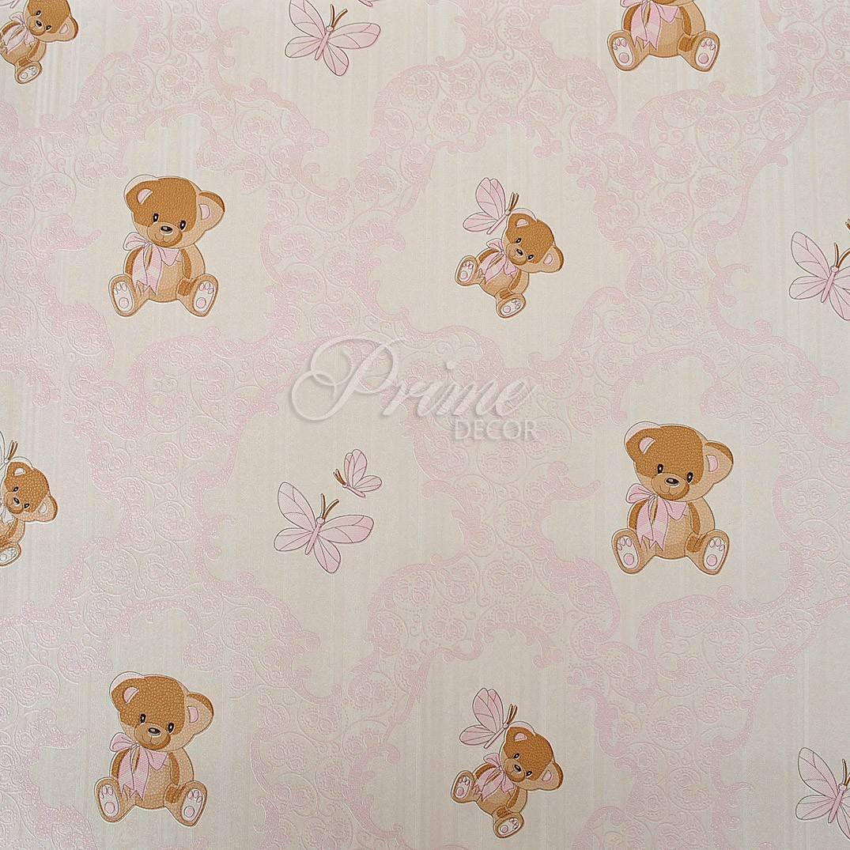 Papel de parede importado infantil rosa ursinho alto for Papel para paredes catalogo