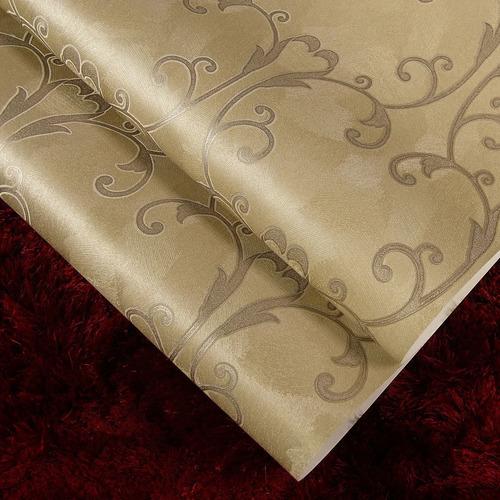 papel de parede importado lavável vinílico ramos marrom