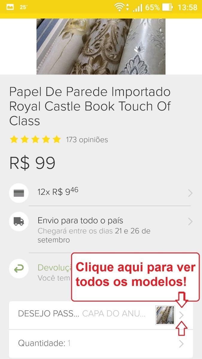 e8309af7e Papel De Parede Importado Royal Castle Book Touch Of Class - R$ 89 ...