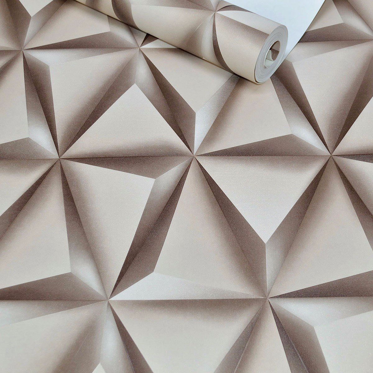 Papel de parede importado textura 3d marrom vinilico lav vel r 109 90 em mercado livre - Papel vinilico para paredes ...