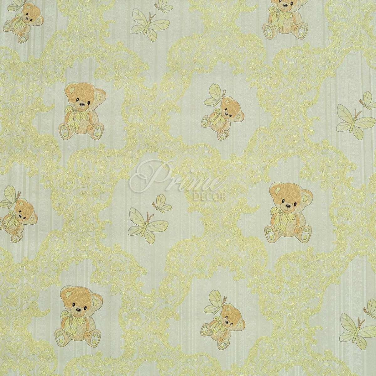 Papel de parede importado textura infantil beb amarelo - Papel pared bebe ...