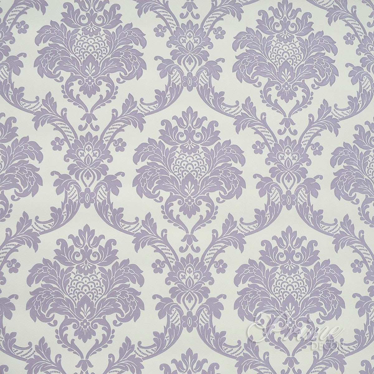 Papel de parede importado textura relevo damask roxo lil s for Papel para paredes catalogo