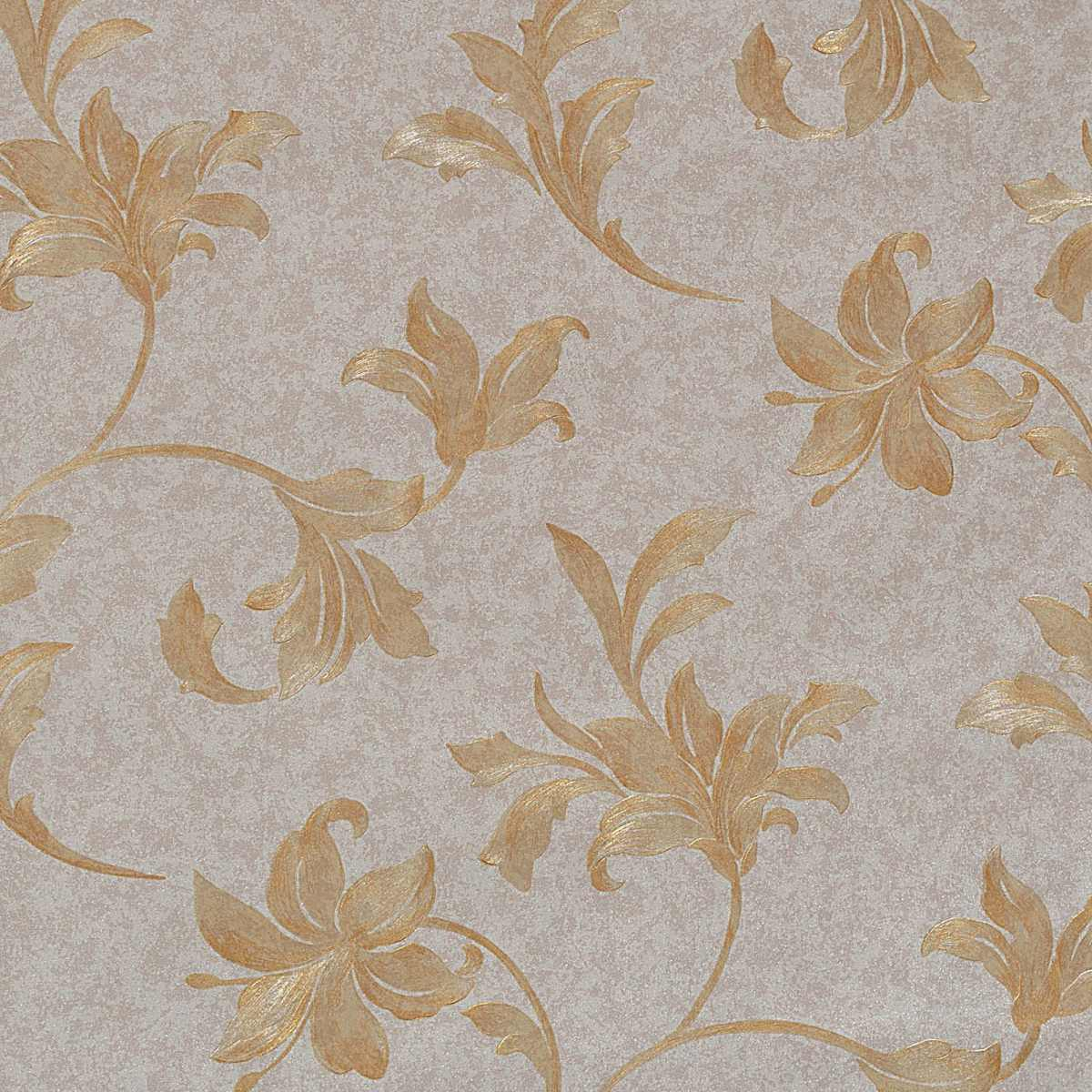 Papel de parede importado texturizado ramos flores laranja - Papel para paredes ...