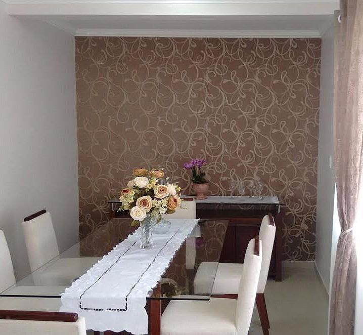 Papel de parede importado vin lico curvas marrom dourado - Vinilico para paredes ...