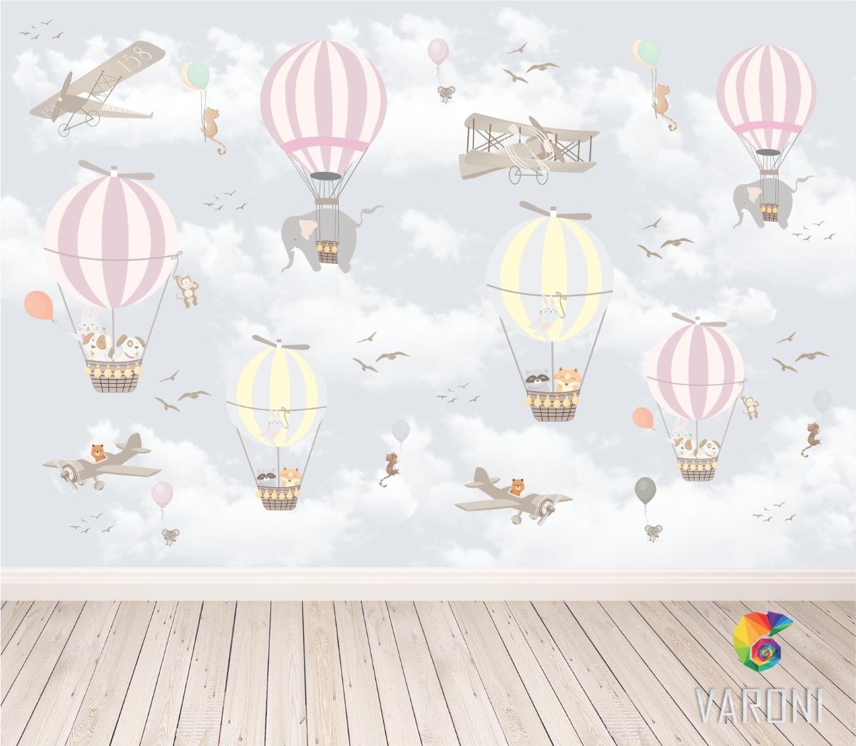 Papel de parede infantil bal es adesivo autocolante menina - Papel infantil para paredes ...
