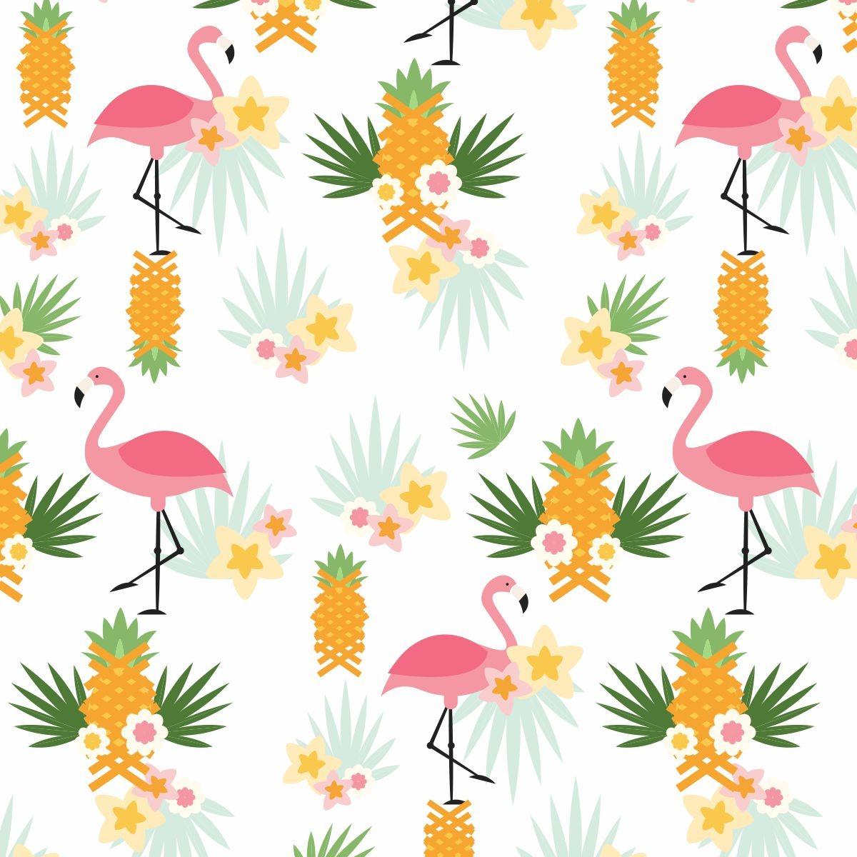 Papel de parede infantil flamingo fruit salad adesivo r - Papel infantil para paredes ...