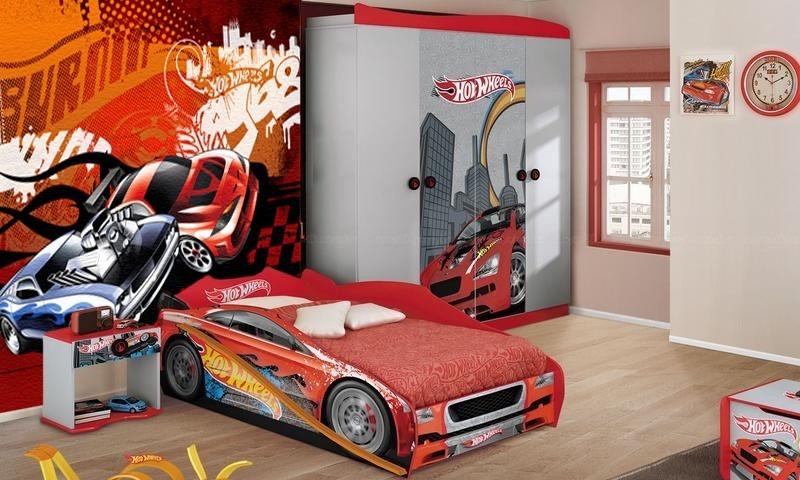 Adesivo De Parede Para Quarto Hot Wheels ~ Papel De Parede Infantil Hotwheels Hot Wheels M u00b2 R$ 39