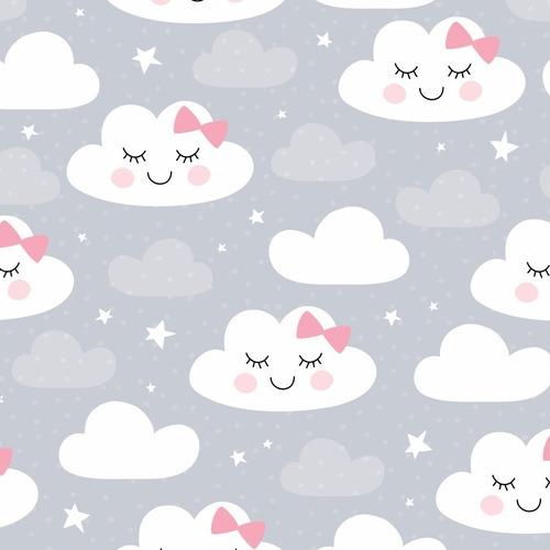 papel de parede infantil nuvem chuva nuvens teen - ref 4332