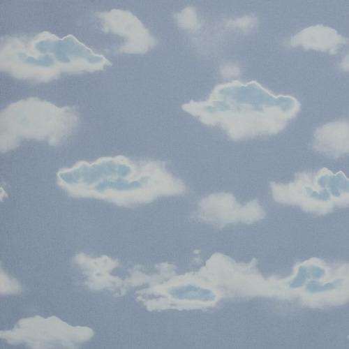papel de parede infantil nuvens azul cloudy quarto menino