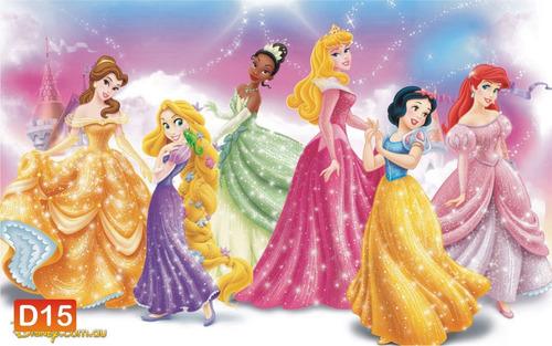 Papel de parede infantil princesas disney m r 39 90 - Papel infantil para paredes ...